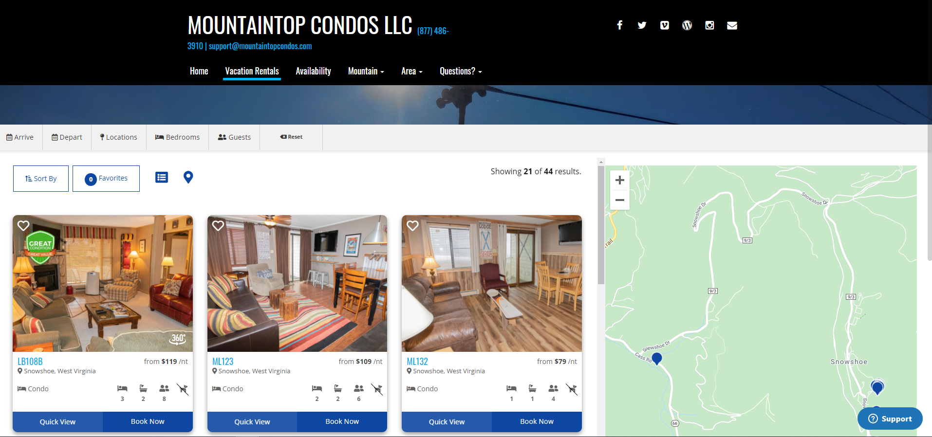 Mountaintop Condos **